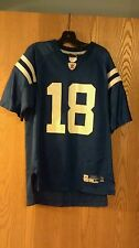 Peyton Manning Indianapolis Colts Blue Reebok jersey Youth L 14-16 EUC