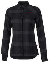 GHOST Damen Bike Shirt Long schwarz/grau/rot 2017 - S