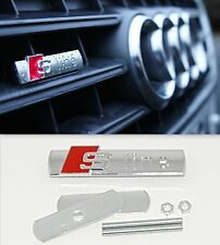 Metal AUDI S-Line Front Grill Badge Red Emblem A3 S3 A4 S4 A5 A6 A7 RS4 Q5 Q7
