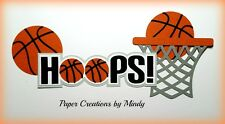 Craftecafe Mindy Basketball boy girl Title  premade paper piecing scrapbook page