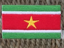 SURINAME FLAG PATCH....IRON/SEW ON.........6.5 x 3.5 cm