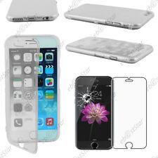 """Housse Etui Coque Portefeuille Silicone Transparent Apple iPhone 6 4,7"""" Verre"""