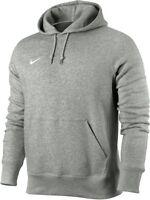 Nike Men's Fleece Hoodie Hooded Sweatshirt Jumper Pullover 826433-063 - Grey