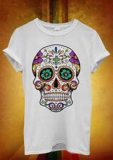 Mexican Skull Death Floral Funny Men Women Unisex T Shirt Tank Top Vest 1081