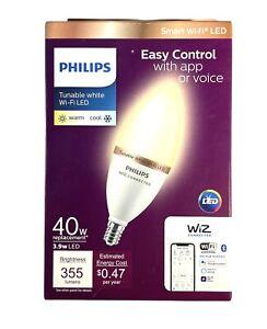 Philips Smart Wi-Fi 40W LED 355 Lumen Energy Saving Tunable White Bulb E12 Base