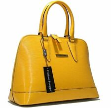 Authentic Cristiano Pompeo Italy handbag bag purse alma total epi leather yellow