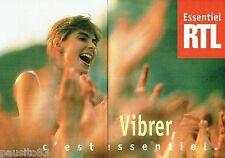 PUBLICITE ADVERTISING 116  1996  radio RTL ( 2pages)  c'est vibrer