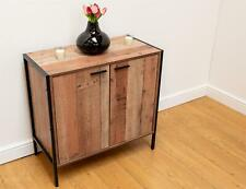 Stretton Sideboard Storage Cupboard with 2 Doors Rustic Industrial Oak Effect