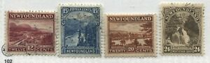 Newfoundland 1923 12 cents to 24 cents very lightly used