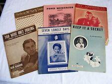 Lot of 6 Piano Sheet Music 30's 40's 50's Georgia Gibbs Jo Stafford
