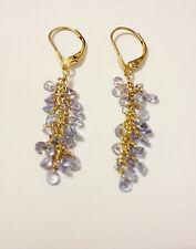Tanzanite Yellow Gold 14 Carat Fine Earrings