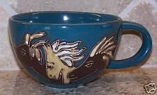 Mara Stoneware, Horses, Latte/Soup Mug