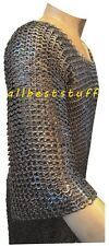 Chain Mail Shirt Mild Steel Flat Riveted Chain Mail Small Hauberk