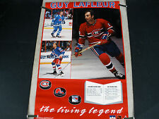 RARE GUY LAFLEUR CANADIANS 1990 VINTAGE ORIGINAL NHL STARLINE HOCKEY POSTER