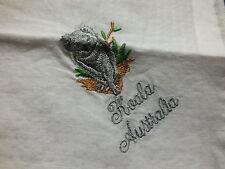 Beautiful Collectible Ladies Handkerchief Embroidered Koala Bear Australia Wow