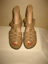Sanita Beige Leather  Strappy Sandals Shoes Shoe Size 36  US 5.5- 6