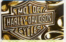 Harley Davidson H-D Motorcycles Motor Cycles Bar Shield 2015 Gift Card