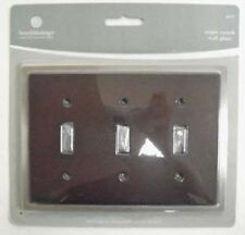 64577 Ceramic Insert Triple Switch Cover Wall Plate