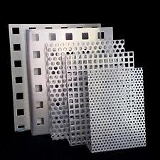 Aluminium Edelstahl Lochbleche Verschiedene Maße & Lochmuster 1,5 & 2mm dick