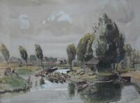 Becket's Park Marina Northampton Watercolour George H Buckingham Holland c c1930