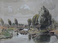 Becket's Park Marina Northampton Watercolour George H Buckingham Holland c c1930