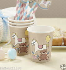 baby shower party Rock A Bye Baby 8 rocking horse & teddy bear paper cups