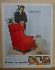 1972 magazine ad for La-Z-Boy recliners - Joe Namath, Nothing more comfortable
