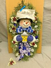 Bradford Exchange Thomas Kinkade Warm Winter Welcome Snowman Wreath Broken