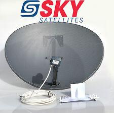 Sky 80cm Zone 2 Freesat Satellite Dish & Mk4 Quad LNB 40m White Single Rg6 Kit
