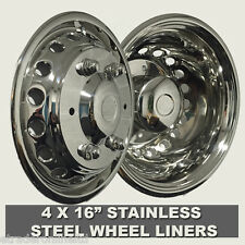 "EUROLINERS STYLE 16"" MERCEDES SPRINTER 2006> WHEEL TRIMS SETOF 4 STAINLESS STEEL"