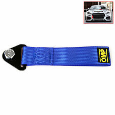 Sports Blue High Strength Racing Tow Strap Set for Front Rear Bumper Towing Hook