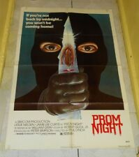 original PROM NIGHT one-sheet poster Jamie Lee Curtis Leslie Nielsen