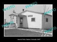 OLD LARGE HISTORIC PHOTO OF AMANCHE COLORADO, VIEW OF THE POLICE STATION c1940