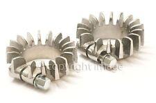 """Finned Exhaust Clamp Pair, Triumph T120 Bonneville, TR6, T140, 1 3/4"""", 71-0216"""