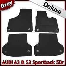Audi A3 Mk2 Sportback 2003-2013 Tailored LUXURY 1300g Carpet Car Floor Mats GREY