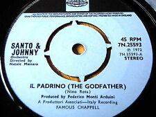 "SANTO & JOHNNY - IL PADRINO (THE GODFATHER)   7"" VINYL"