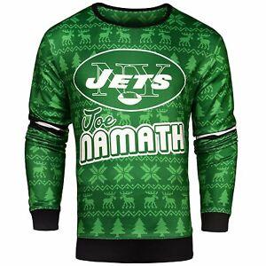 NFL Men's New York Jets Joe Namath #12 Retired Player Ugly Sweater