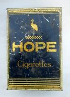 Vintage Old Collectible Hope Fine Virginia Cigarettes Ad  Litho Tin Box Japan