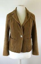 Wallis Ladies Dark Camel Cord Corduroy Blazer Jacket UK 14
