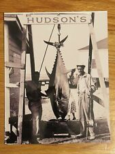 TED WILLIAMS at HUDSON's PIER Fishing TUNA 8x10 Photo