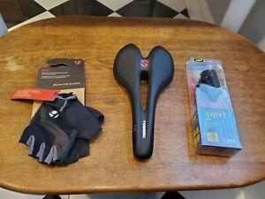 Bontrager Gloves Toseek Carbon Saddle And Niterider Light