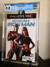 Invincible Iron Man #7 1st cameo appear Riri Williams CGC 9.8 WP 2nd Print! RARE