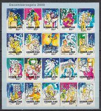 Niederlande 2000 ** Mi.1835/54 Klbg. Dezembermarke Weihnachten Christmas[st2507]