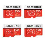 Samsung EVO Plus 32/64/128/256G Flash Memory Micro TF SD Card UHS-I Class10 I7H5