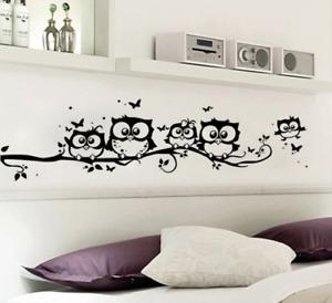 Sticker Wandaufkleber Wandtattoo Eule Schmetterling Tiere für Kinderzimmer
