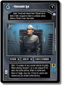1x Commander Igar - Rare Damaged Endor - Limited - BB