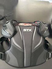 STX Lacrosse Stallion 200 Shoulder Pad Black and Red  Size Medium