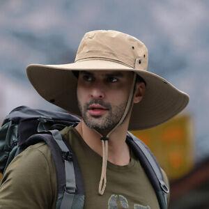 Boonie Brim Bucket Hat Fishing Hiking Hunting Military Summer Outdoor Safari Cap