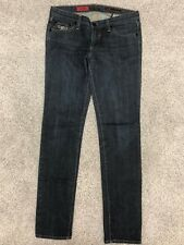 AG Jeans The Stilt Skinny Dark Wash Jeans w/ Embroidered Bow Sz 27 R (II#1574)