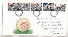 Grande Bretagne enveloppe 1er jour  célébrités du football 1996 num: 1871/75